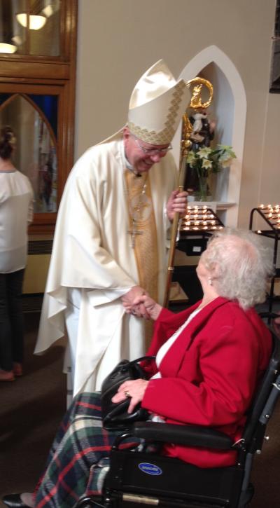Archbishop McMahon meeting Rose McMahon